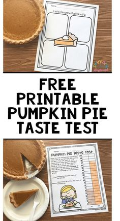 Free Printable Pumpkin Pie Taste Test
