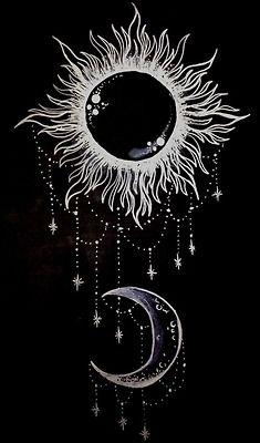 art tattoo tattoodesign moon sun stars shakra personal