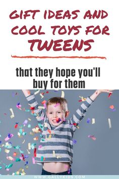 Cool toys for tweens here! They may be teenagers soon, but tweens still love to play! Here are some toys and gift ideas that tweens love. Tween Boy Gifts, Gifts For Teen Boys, Cool Gifts For Kids, Birthday Gifts For Teens, Diy Birthday, Eyes Game, Unusual Presents, Non Toy Gifts, Board For Kids