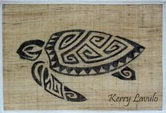 turtle-tahiti-polynesian-tribal-drawing-ink-pen-canvas-tattoo-kerry-lavulo by White Flame Studios, via Flickr