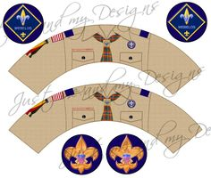 DIY Cub Scout Webelos cupcake wrapper and topper