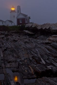 Foggy Night at Pemaquid by Gary Smith, via 500px