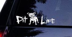 Floppy Ears Pitbull Pit Life Dog Decal Window Sticker