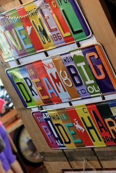 Colorful signs
