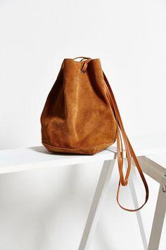 Kimchi Blue Suede Bucket Crossbody Bag