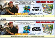 """Michael Jantze is enjoying his """"Onion & Pea"""" book. Get your copy and much more on indiegogo.  Michael Jantze está disfrutando su libro """"Onion & Pea"""". Consigue el tuyo y mucho más en indiegogo. https://www.indiegogo.com/projects/first-onion-pea-book"""