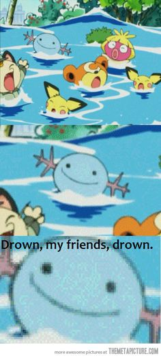 drown them all :3 #Pokemon #Funny