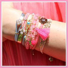 Weer of geen weer - wij gaan gewoon voor zomerse polsjes ♡ Mix en Match ! www.armbandonlinekopen.nl