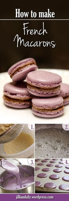 How to make French Macarons. Simple step by step instructions for beginner bakers.