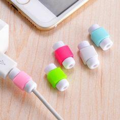 5 ST gratis verzending siliconen digitale kabel protector Cord Protecotor Beschermende mouwen kabelhaspel cover voor iphone ipad