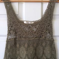 Anthropologie Lace Tunic Tank ✨Never Worn✨ Beautiful lace detail! Anthropologie Tops Tank Tops