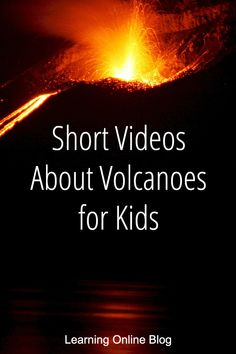 These quick videos about volcanoes will teach your kids about lava, the Earth's crust, volcano formation, types of volcanoes and more. Preschool Science, Science Experiments Kids, Science Classroom, Science Lessons, Teaching Science, Science For Kids, Earth Science, Teaching Kids, Kids Learning