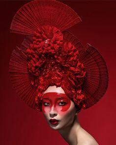 Красный кокошник - китаянка