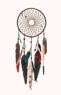 beautiful dreamcatcher print on etsy