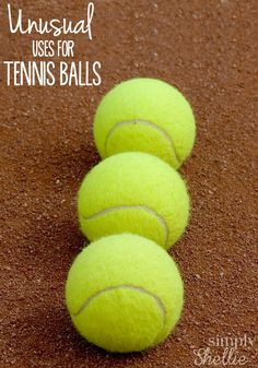 Tennis Balls can be awesome off the court and around your house. Check out these fun uses. I am a little skeptical of #7 but excited to try #3 and #8.