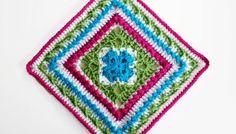 Free Crochet Pattern: English Garden Afghan Square