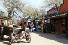 View of shops in Frontier Town located in Cave Creek, Arizona