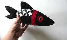 plush fish... i'm happy to be sewing again