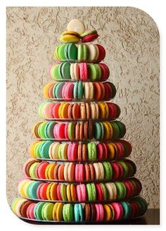 Colorfull Wedding cakes...macarons