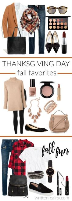 Thanksgiving Day Outfit Ideas : I've gathered my favorite practical and casual Thanksgiving outfits to help you celebrate in style this holiday.