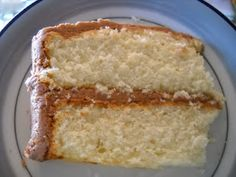 This is from a Betty Crocker cookbook from the 1960's.  It is by far my favorite yellow cake.  I am not a fan of yellow cake, but this cake is wonderful... light, fluffy and great flavor.