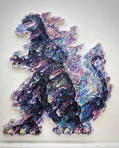 Takashi Murakami with a new Godzilla painting set to go on display at Toho's Complexcon booth next weekend! Takashi Murakami Art, Japanese Contemporary Art, Superflat, Graffiti Wall, High Fantasy, Paint Set, Japanese Artists, Aesthetic Photo, Godzilla