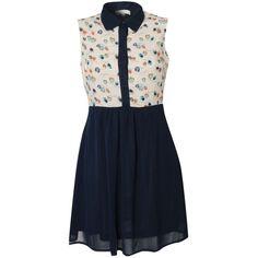 Glamorous Owl Print Top Shirt Dress ($31) ❤ liked on Polyvore