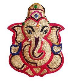 Lord Vinayaka - Wall Hanging (Khus Root and Cloth) Wood Sculpture, Sculptures, Baby Ganesha, Ganesh Idol, Rangoli Colours, Happy Ganesh Chaturthi, Shri Ganesh, Radha Krishna Wallpaper, Rock Painting Designs