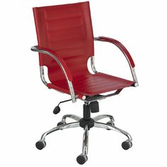 Discover the Safco Flaunt Managers Chair for only $312.95!  If you've got it Flaunt it! The Flaunt chair boasts a stitched accent on the seat and back for a sophisticated and contemporary look. You're sure to get noticed with three leather and three micro fiber options to choose from. With stylish, chrome metal accents, the chair also features fabric arms that match the chair. The height-adjustable swivel-tilt mechanism is perfect for any environment.