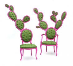 Cactus chairs.  These are so whimsical (and a little scary!)