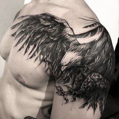Image may contain: one or more people and bird Hairline Tattoos, Up Tattoos, Feather Tattoos, Body Art Tattoos, Sleeve Tattoos, Tattoos For Guys, Cool Tattoos, Eagle Wing Tattoos, Wing Tattoo Men