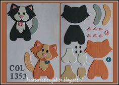 Baby Cards Handmade Diy Punch Art New Ideas Paper Punch Art, Punch Art Cards, Cat Cards, Kids Cards, Marianne Design Cards, Animal Cards, Stuffed Animal Patterns, Felt Animals, Paper Cards