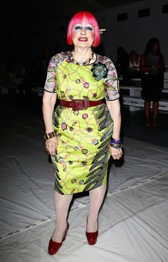 Zandra Rhodes Photos Photos - Zandra Rhodes attends the Jasper Conran show during London Fashion Week Spring Summer 2015 at Somerset House on September 13, 2014 in London, England. - Day 2: Front Row - London Fashion Week SS15