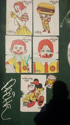 """The Wack Donald's Project"" - Pop culture street art captured by agent David Kazemi in Williamsburg. Street Work, Nyc Art, Mcdonalds, Pop Culture, David, Stickers, Creative, Artist, Projects"