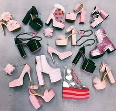 Cute December 25 2019 at fashion-inspo Aesthetic Shoes, Pink Aesthetic, Goth Shoes, Shoes Heels, Pink Heels, Fashion Mode, Fashion Shoes, Dress Fashion, Fashion Clothes