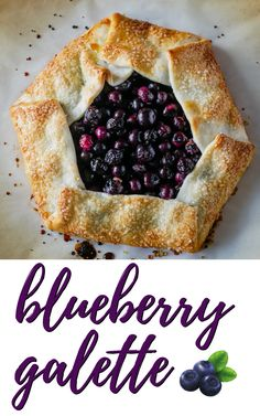 A rustic blueberry galette or blueberry crostata is an easy to make dessert. Fresh juicy blueberries are baked in a crisp and flaky crust for an open faced dessert that tastes delicious, looks impressive and can be made in less than 30 minutes.
