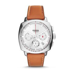 Fossil Haywood Chronograph Leather Watch - Brown, CH2985| FOSSIL® Watches