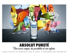 absolut vodka 'purity' by paul graves
