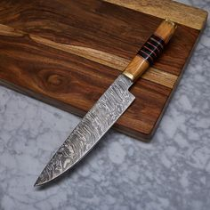 Handmade Damascus Kitchen Knife // KCH-15