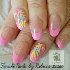 Sugar manicure feathers