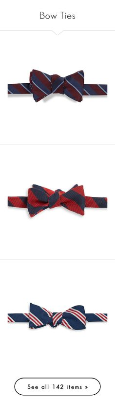 """""""Bow Ties"""" by aarabbit44 on Polyvore featuring men's fashion, men's accessories, men's neckwear, bow ties, red, blue, navy, black, gold and mens bow ties"""