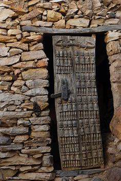 Africa | Carved Dogon door, Mali | © Phil Marion