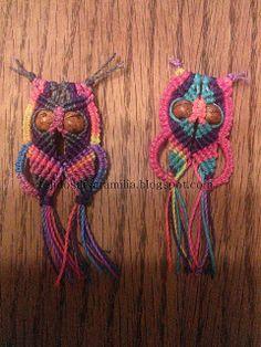 Tejidos de la familia                   MACRAME, CROCHET Y PALILLOS  :): Macrame owl, buho hecho en macrame