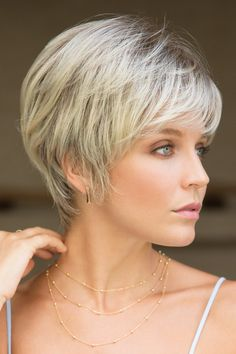 Browse our Short Wigs for women. Short wigs above the shoulder to bobs and boys cuts in straight, wavy to curly styles. Short Hairstyles For Thick Hair, Short Hair With Layers, Easy Hairstyles, Curly Hair Styles, Short Haircuts, Pixie Hairstyles, Hairstyle Ideas, Medium Hairstyles, Layered Hairstyles