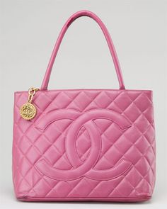 pink top handle Chanel bag