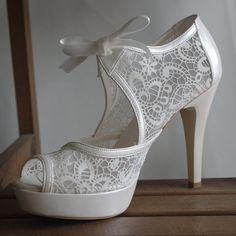 Handmade lace ivory wedding shoe designed by bosphorusshop on Etsy