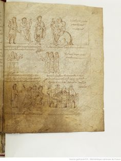 BnF ms. lat. 8318, Recueil factice composé de 4 manuscrits ou fragments de manuscrits différents: I. Arator Subdiaconus, Historia apostolica (f. 3-48). — II. Aurelius Clementis Prudentius, Psychomachia (f. 49-64). — III. Venantius Fortunatus, Carmina (f. 65-71). — IV. Aldhelmus, Carmina ecclesiastica (f. 73-80). -- 800-900, fol. 62r
