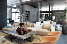 Tour a Masculine-Luxe South African Penthouse - Domaine » Blog
