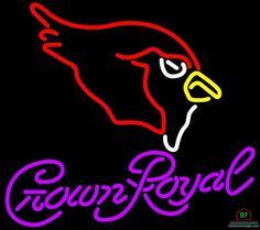 Crown Royal Arizona Cardinals Neon Sign NFL Teams Neon Light