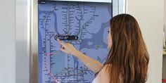 New York Metro touchscreen information system